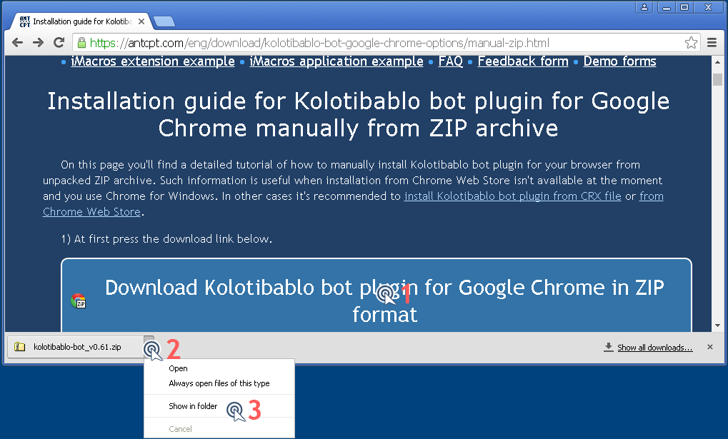 how to install extension in chrome manually