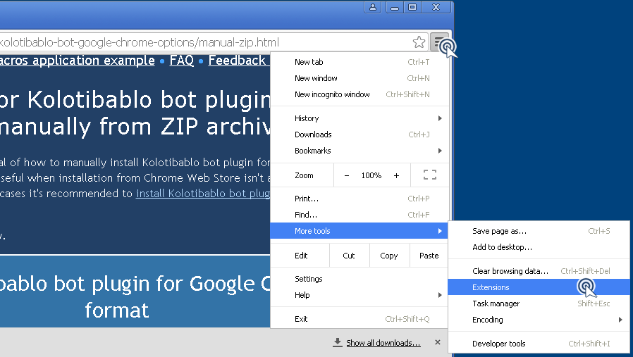 Installation instructions for ZIP | Kolotibablo Bot