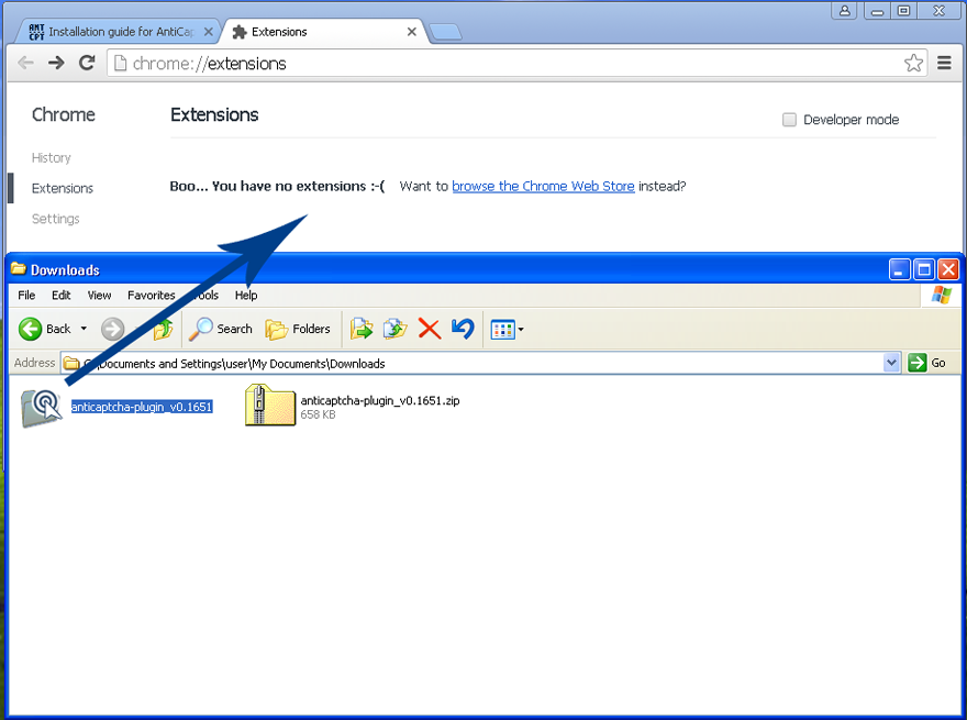 Drag a directory with sources with your mouse onto Extensions pannel, a plugin installation will start immediately.