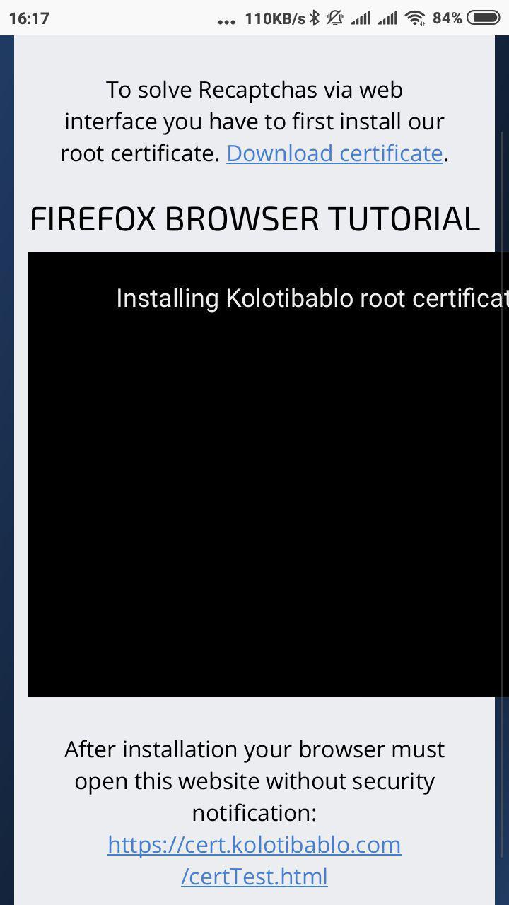 Installation for Android in Mozilla Firefox   Kolotibablo Bot